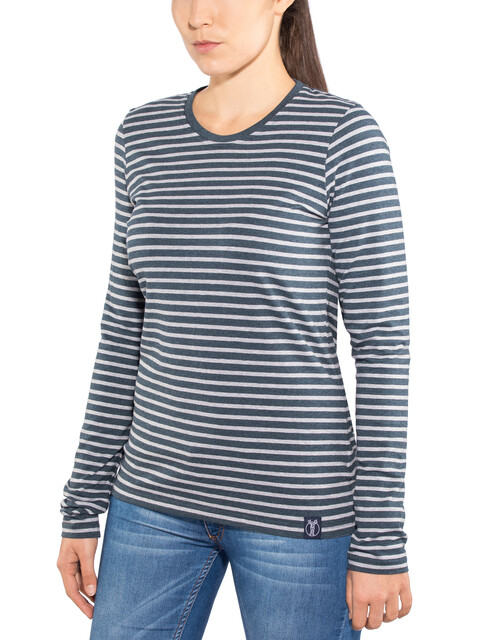 Elkline Hummel Longsleeve Shirt Women grey/blue